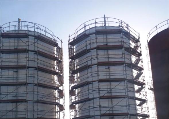 18 Réservoirs de stockage du Nouveau Terminal des hydrocarbures à Jorf Lasfar