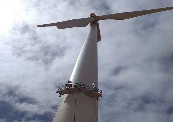 Réfection des mats des éoliennes